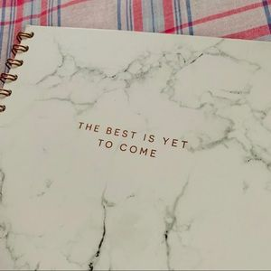 """3/$15 NWT Indigo """"the best is yet to come""""notebook"""